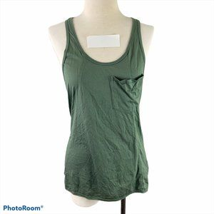 WILFRED Green Racer Back Tank Top